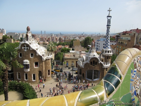 Barcelona-view-from-Gaudis- Parc-Guell