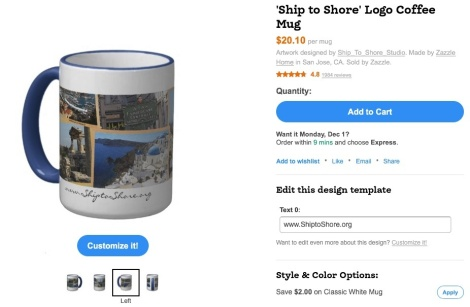 Ship to Shore Logo Mug